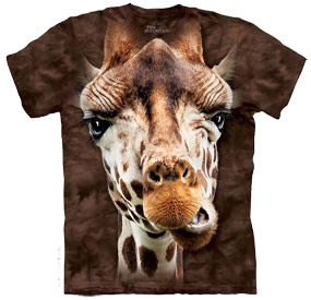 Giraffe Face T- Shirt