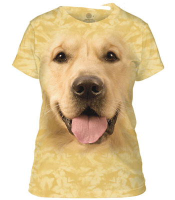 Golden Retriever Ladies T-Shirt