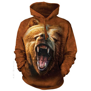 Grizzly Face Hoodie