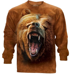 Grizzly Face Long Sleeve Shirt