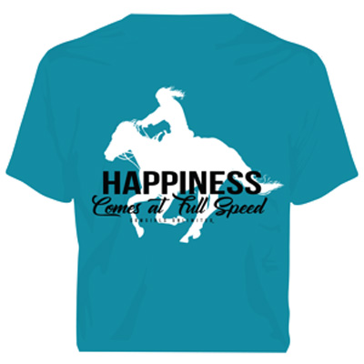 Happiness Comes At Full Speed T-shirt