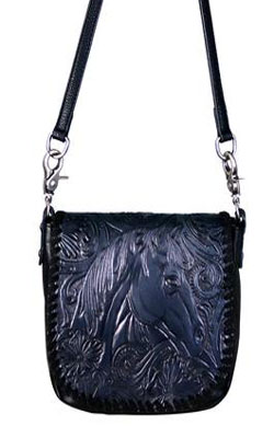 Horsehead Cross Body Bag Black