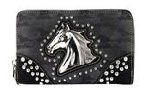 Horsehead Zippered Wallet