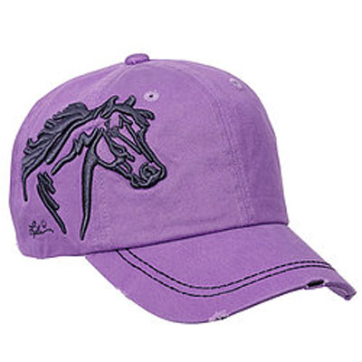 Embroidered Horsehead Cap / Lavender