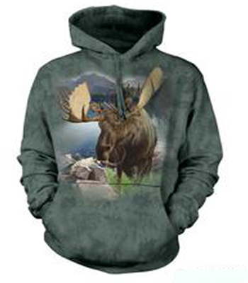BaMonarch of the Forest Moose Hoodie