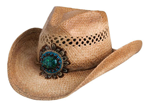 Navajo Bead and Feather Western Hat
