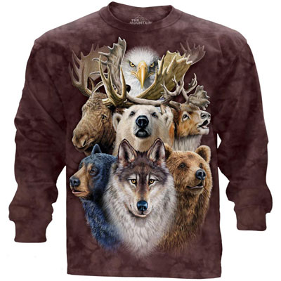 Wildlife Collage Long Sleeve T-Shirt
