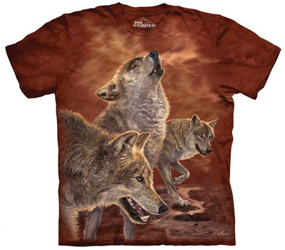 Red Glow Wolves T- Shirt