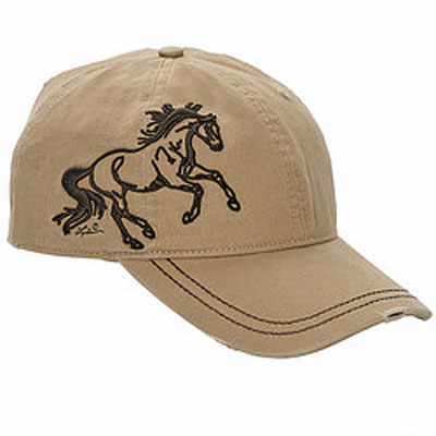 Embroidered Running Horse Cap / Tan