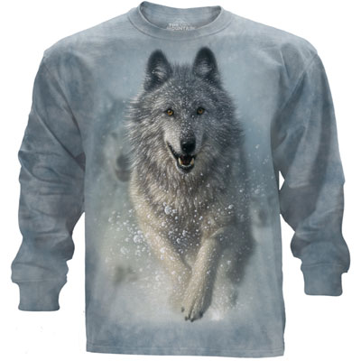 Snow Plow Wolf Long Sleeve T-Shirt