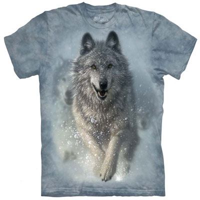 Snow Plow Wolf T- Shirt