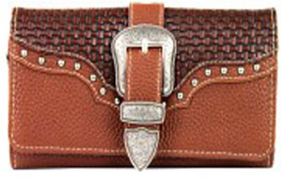 Buckle / Studs Trifold Wallet