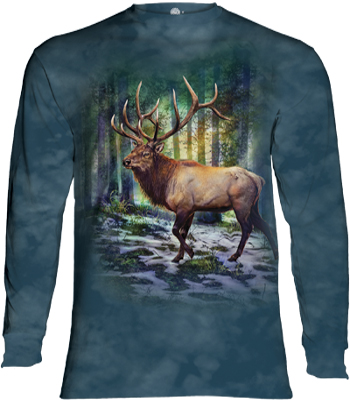 Sunlit Elk Long Sleeve T- Shirt