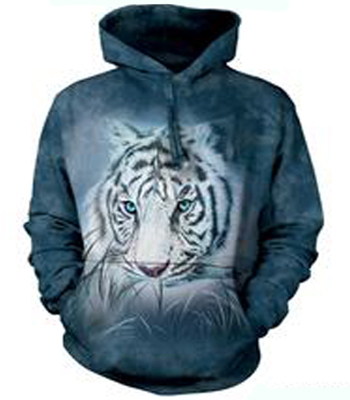 Thoughtful White Tiger Hoodie
