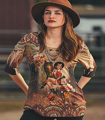 Vintage cowgirl 3/4 Sleeve T-Shirt