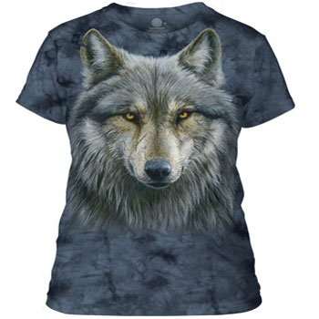 Warrior Wolf Ladies T-shirt