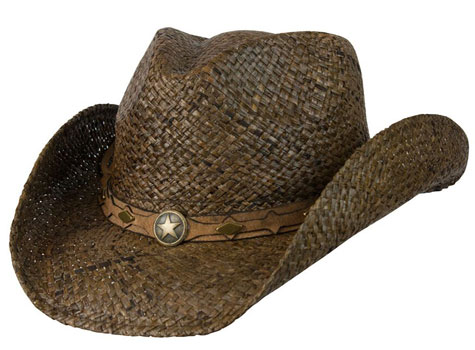 Western Rafia Shapeable Hat